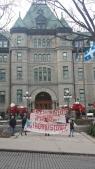 Devant l'Hôtel de ville de Québec
